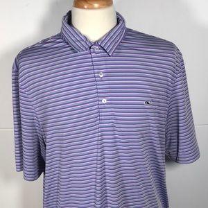 Vinyard Vines Men's XL Striped Whale  Polo shirt